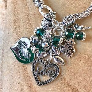 Jewelry - Philadelphia Eagles Inspired Charm Bracelet